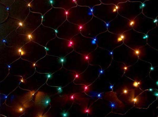 Гирлянда электрическая сетка-рис, 2,10 x 1,40, 320 ламп, цветная, с контроллером N11064