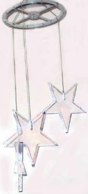 Гирлянда электрическая с супер-яркими лампами сосульки-звезды, 3 лампы, синие