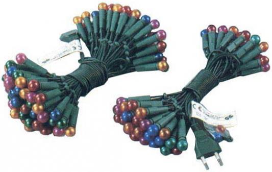 Гирлянда электрическая ромашка, 1,5 см, жемчужные огни, 100 ламп, с контроллером, 6 + 1,5 м 11022