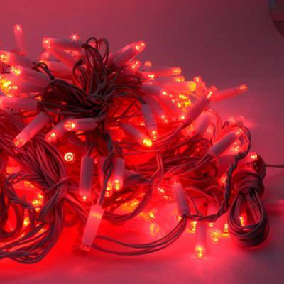 Гирлянда электрическая ЗАНАВЕС наружн, 2*2,5М, 480 супер-ярких LED, красных ламп с защитным колпачк