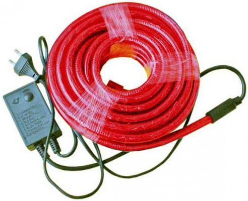 Гирлянда электр. дюралайт, 2 жилы, красный, круглое сечение, диаметр 13 мм, 9м, 216 ламп, с контрол N11104