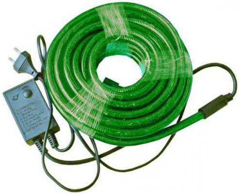 Гирлянда электр. дюралайт, 3 жилы, зеленый, круглое сечение, диаметр 13 мм, 9м, 216 ламп, с контрол