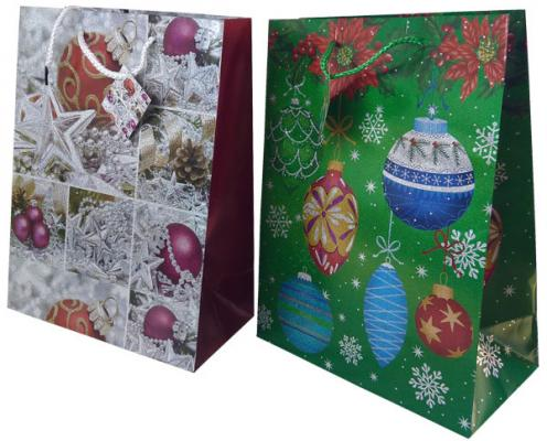 Пакет подарочный бумажный ламинированный, 260х324х127 мм, с лазерной печатью пакет подарочный бумажный r31375