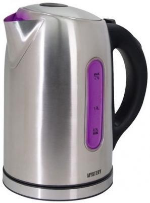 Чайник MYSTERY МЕК-1640 1800 Вт серебристый 1.7 л нержавеющая сталь видеорегистратор mystery mdr 970hdg черный