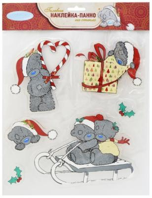 Наклейка-панно гелевая Me to you, декоративная, на стекло, 25х30 см|1 панно winter wings me to you мишка с подарками 63 х 55 см