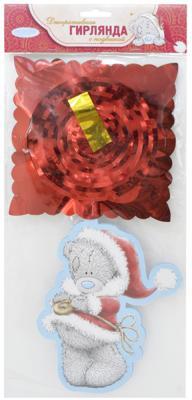 Купить Гирлянда декоративная с подвеской Me to you Мишка Тедди , 3м, 29*13см, бумага, пвх N09006, Winter Wings, Атрибуты для праздника