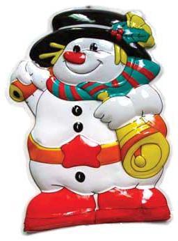 Новогоднее панно Winter Wings N09086 49х35 см в ассортименте (Снеговик, Дед Мороз панно новогоднее 3d музыкальное с led подсветкой снеговик 20 25см min12 подарочная упаковка