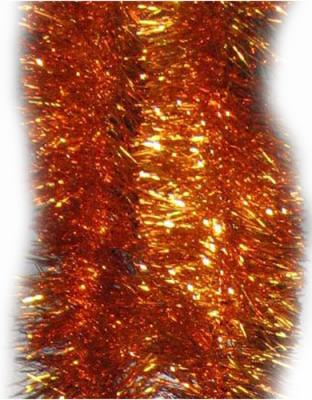 Новогоднее украшение Winter Wings мишура одноцветная 10х200 см N09107/оранж
