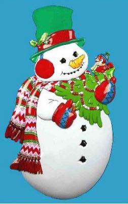 Новогоднее панно Winter Wings Снеговик с ёлкой 86х48 см N09139 панно новогоднее 3d музыкальное с led подсветкой снеговик 20 25см min12 подарочная упаковка