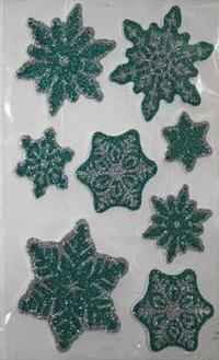 Наклейка Winter Wings панно Снежники, прозрачная цветная с блестящей крошкой 20х30 см N09224