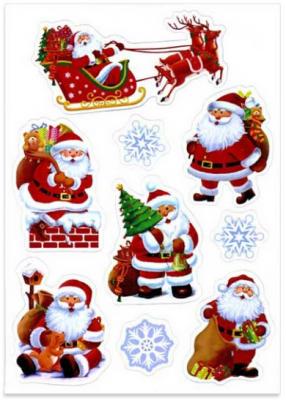 Набор магнитов Winter Wings ВЕСЕЛЫЙ САНТА 20*28,5 см 9 шт набор елочных игрушек русские подарки веселый новый год 9 шт 71435
