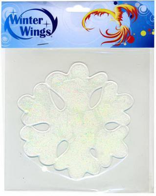 Наклейка Winter Wings Снежинка 15х15 см N09306 в ассортименте