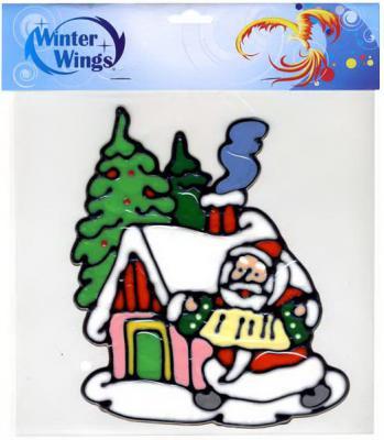 Наклейка Winter Wings Дед мороз у домика 20 см N09316 наклейка winter wings панно дед мороз и дети 29 5х40 см n09277