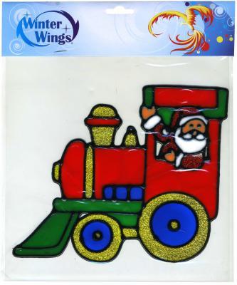 Наклейка Winter Wings Дед мороз в паровозе 20 см наклейка winter wings панно дед мороз и дети 29 5х40 см n09277