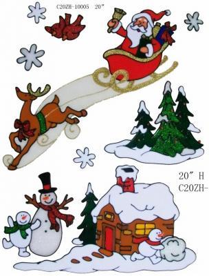 Наклейка Winter Wings Снеговики 30х33 см runail дизайн для ногтей ракушки 0284