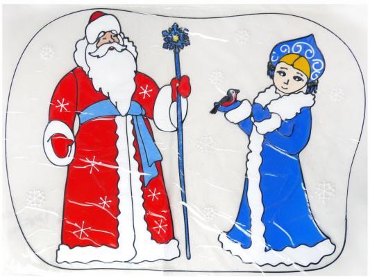 Купить Наклейка Winter Wings Дед мороз и снегурочка 45х60 см, Атрибуты для праздника