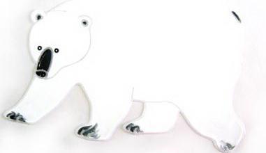 Наклейка Winter Wings Белый медведь 20 см