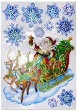 Наклейка Winter Wings Дед Мороз 49x30 см N09347 наклейка winter wings панно дед мороз и дети 29 5х40 см n09277