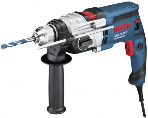 Дрель ударная Bosch GSB 19-2 RE ударная аккумуляторная дрель bosch gsb 18 ve 2 li 4 0ач 0 601 9d9 300