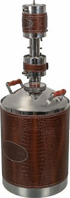 Дистиллятор Магарыч Машковского БККР 20 2л/ч V=20л корпус:искуст.кожа серебристый/коричневый