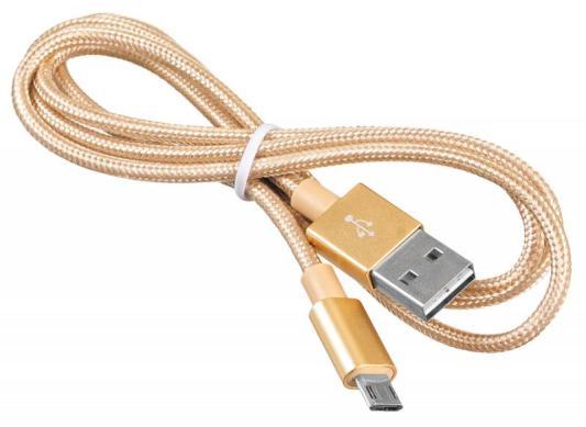 Кабель microUSB 1м BURO Reversible Braided BHP круглый золотистый USB2.0 375167 кабель microusb 1м konoos круглый kc musb3ng