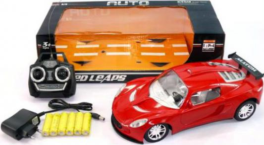 Машинка на радиоуправлении Shantou Gepai 1:14, аккум., 4 канала, свет 8874-8 пластик от 6 лет красный 6927711101731