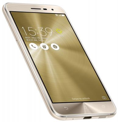 "Смартфон ASUS ZenFone 3 ZE520KL золотистый 5.2"" 32 Гб LTE Wi-Fi GPS 3G 90AZ0173-M00600"