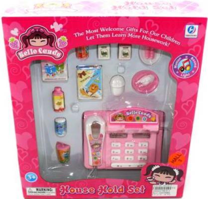 Игровой набор Shantou Gepai Касса с продуктами YH818-2 12 предметов игровой набор shantou gepai магазинчик тележка с продуктами 14 предметов