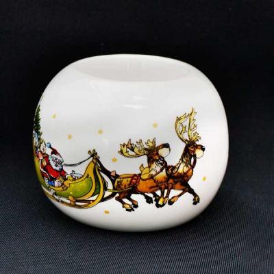 Подсвечник ДЕД МОРОЗ,7,5*5,5 см, керамика украшение новогоднее оконное magic time дед мороз с самоваром двустороннее 30 х 32 см