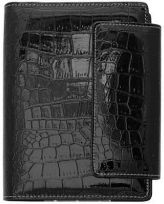 Бизнес-органайзер датированный Index CROCO A6 искусственная кожа IBO1040/5/BK