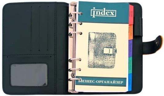 Бизнес-органайзер датированный Index FUSION искусственная кожа IBO501/5GY/OR