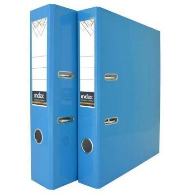 Папка-регистратор COLOURPLAY, 50 мм, ламинированная, неоновая голубая неоновая продукция yht 1m 1 5