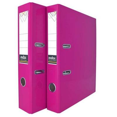 Папка-регистратор COLOURPLAY, 80 мм, ламинированная, неоновая сиреневая iND8LAPL папка регистратор 80 мм ламинированная серая 2