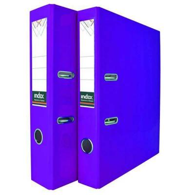 Папка-регистратор COLOURPLAY, 80 мм, ламинированная, неоновая фиолетовая папка регистратор 80 мм ламинированная серая 2