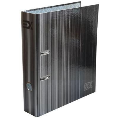 Папка-регистратор с принтом EXTRA, из ламинированного картона, 80 мм, А4, черная папка регистратор из ламинированного картона 50 мм а4 черная ind 5la bl ds
