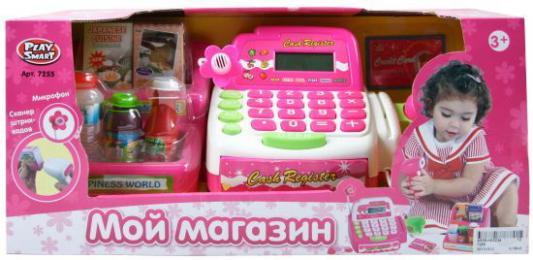 Игровой набор Shantou Gepai Касса эл. Мой магазин со сканером и набором продуктов 7255