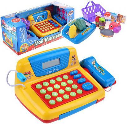 Игровой набор Shantou Gepai Касса эл. Мой магазин со сканером и набором продуктов 22 предмета 7016