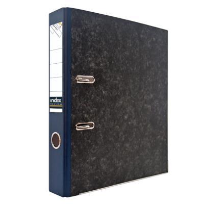 Папка-регистратор под мрамор, 50 мм, А4, корешок синий папка регистратор aro мрамор 50 мм