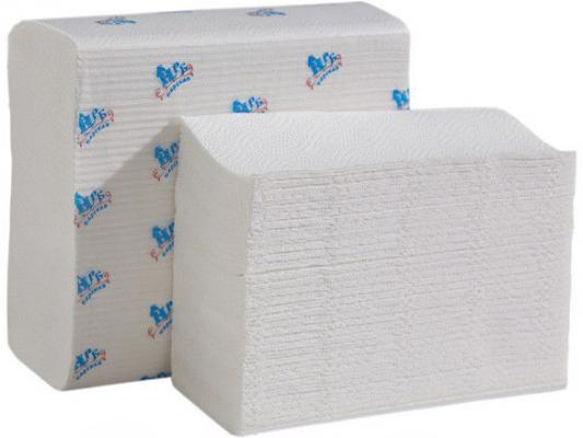 Полотенца бумажные НРБ, Z-укл. в пачке, 1-сл., белые, 23х22 см, 200 л.
