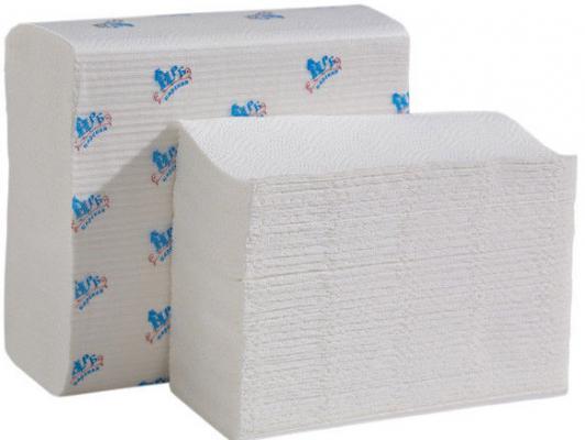 Полотенца бумажные НРБ, Z-укл. в пачке, 2-сл., супербелые, 22х22 см, 150 л.