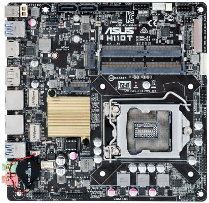 Материнская плата ASUS H110T Socket 1151 H110 2xDDR4 2 mini-ITX Retail k55dr motherboard for asus k55de rev2 0 mainboard hd7470 1g fs1 socket 100% tested