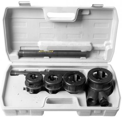 Набор Stayer PROFESSIONAL резьбонарезной трубный в пластмассовом боксе 5 предметов 28260-H4 набор резьбонарезной трубный stayer professional 28260 h3