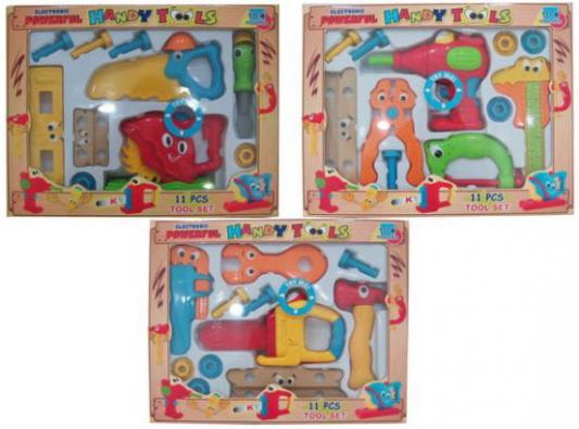 Набор инструментов Shantou Gepai Веселый плотник 11 предметов 10019ABC в ассортименте набор инструментов shantou gepai мамин помощник 14 предметов km 138b