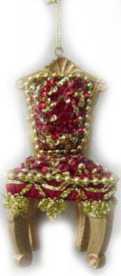 Украшение декоративное ТРОН, 10 см, полирезин