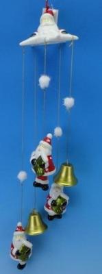 Сувенир ПОДВЕСКА ДЕД МОРОЗ, 10 см, керамика подвеска silver wings цвет белый