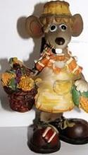Сувенир Winter Wings МЫШКА с корзиной овощей 10 х6 х14 см, N10786 сувенир мкт оберег для кошелька кошельковая мышка с грошем