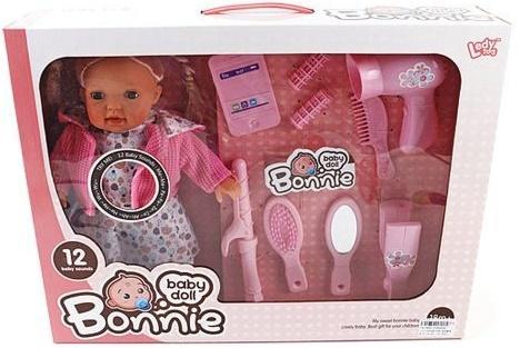 Кукла Shantou Gepai Bonnie с набором стилиста 30 см со звуком LD9905G пупс shantou gepai любимая кукла 30 см со звуком ld9913f