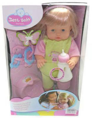 Пупс Shantou Gepai Сесилия 40 см со звуком LD9502K-1 пупс shantou gepai любимая кукла 30 см со звуком ld9913f