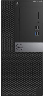 Системный блок Dell Optiplex 7040 MT i5-6500 3.2GHz 8Gb 500Gb HD530 DVD-RW Win7Pro клавиатура мышь черный 7040-0361