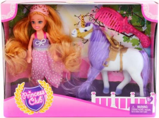 Игровой набор Shantou Gepai кукла Princess Club с лошадкой и аксес-ми 3 предмета 6927520613326